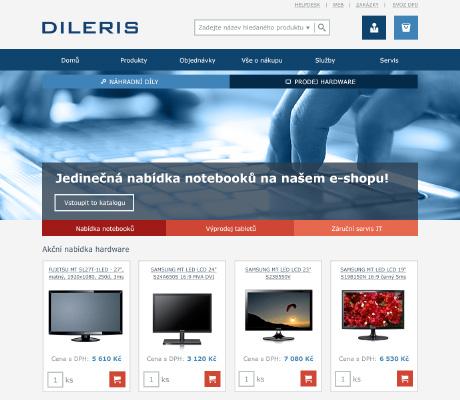 DILERIS a. s. - náhled e-shopu