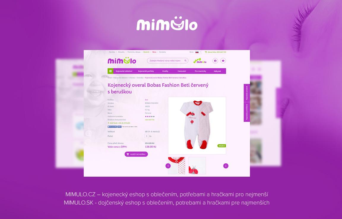 Mimulo.cz - eshop zameřen na miminka