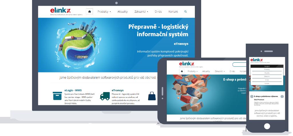 Responzivní design webu E LINKX a.s.